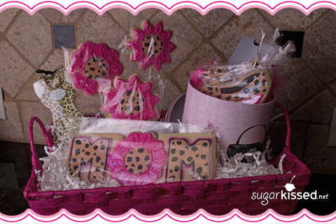 Leopard Print Cookie Basket