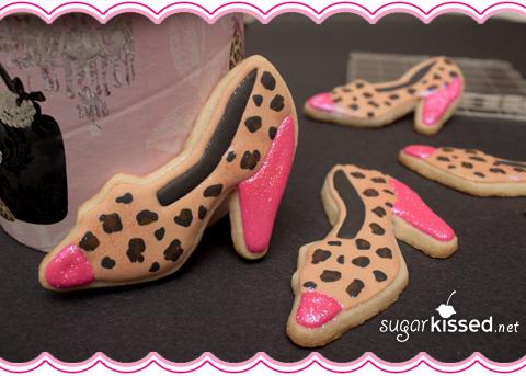 Leopard Print Shoe Cookies