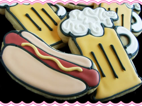 Hot Dog Sugar Cookies