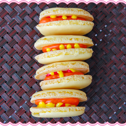 Hot Dog Macarons