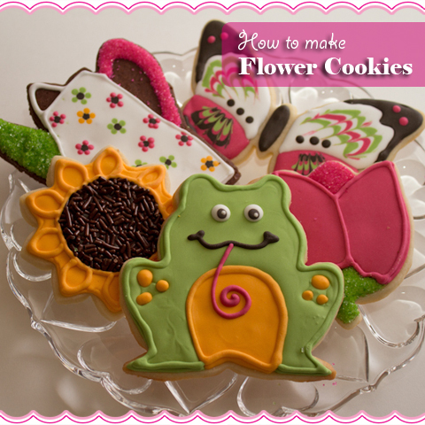 How To Make Flower Cookies by sugarkissed.net