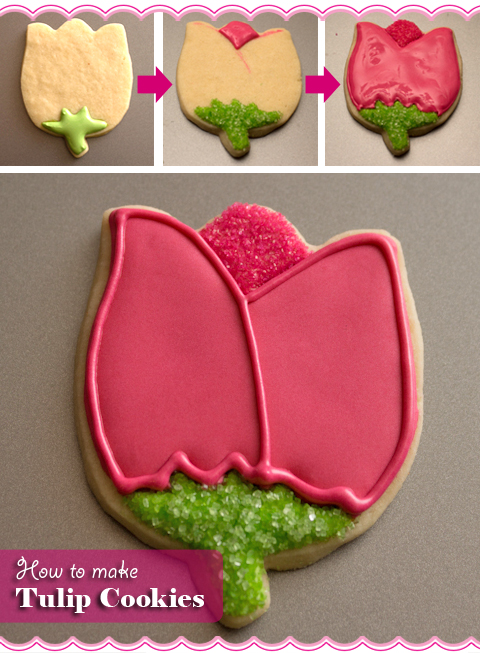 How To Make Tulip Flower Cookies