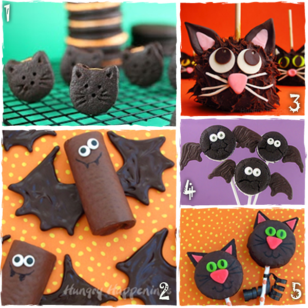 Halloween Bat and Black Cat Treats