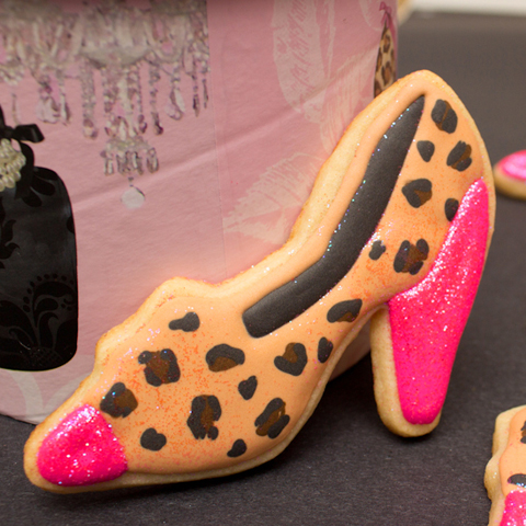 Leopard High Heel Cookies