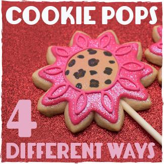 4 Different Ways To Make Cookie Pops | sugarkissed.net