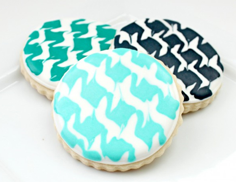 houndstooth cookies