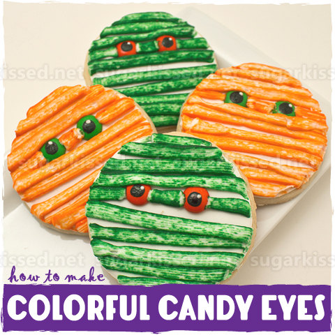 How To Make Colorful Candy Eyes - sugarkissed.net