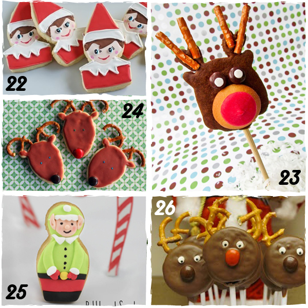 Elf and Reindeer Decorated Christmas Cookies - sugarkissed.net