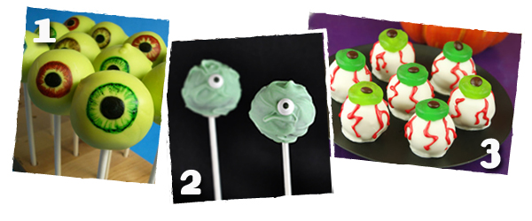 Eyeball Cake Pops 2012