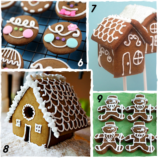 Gingerbread Decorated Christmas Cookies & 51 Decorated Christmas Cookies with Tutorials