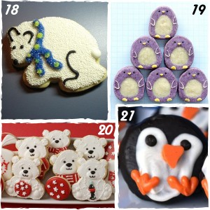 Penguin and Polar Bear Christmas Cookies - sugarkissed.net
