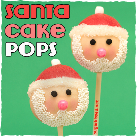 Santa Christmas Cake Pops | sugarkissed.net