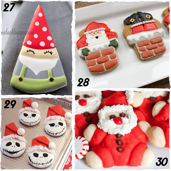 santa claus decorated christmas cookies sugarkissednet