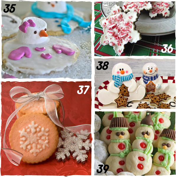 Snowman and Snowflake Decorated Christmas Cookies - sugarkissed.net