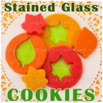 Leaf Stained Glass Cookies