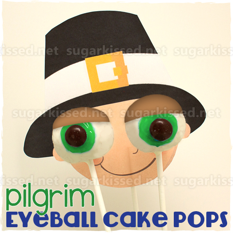 Thanksgiving Pilgrim Cake Pops - sugarkissed.net
