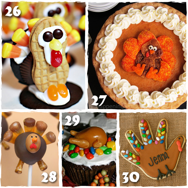 Turkey Thanksgiving Treats - sugarkissed.net
