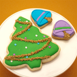 Decorated Christmas Cookies Trees Ornaments
