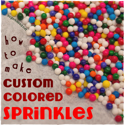 how to tint your own custom colored sprinkles