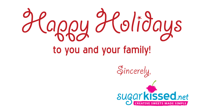 Happy Holidays from sugarkissed.net