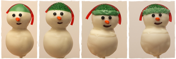 Snowman Cake Pops | sugarkissed.net