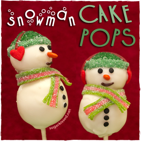 Snowman Cake Pops - sugarkissed.net