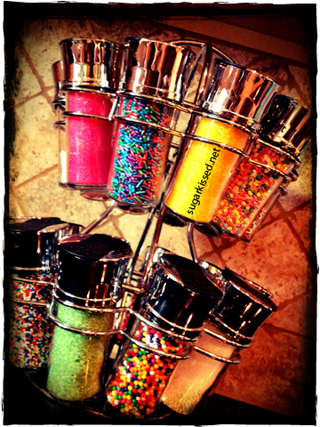 Sprinkles On Display | sugarkissed.net
