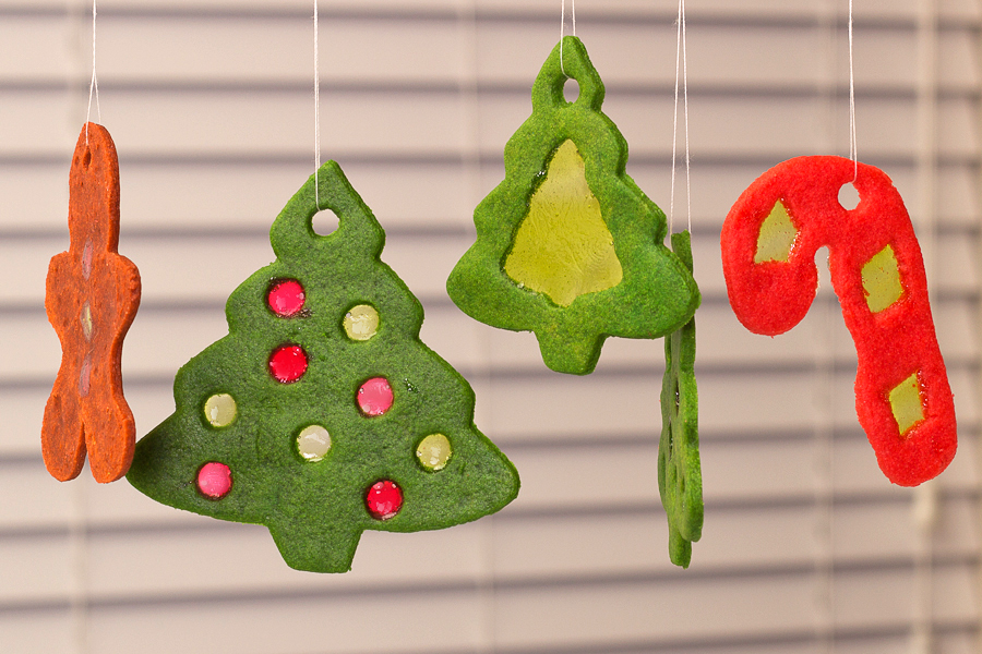 Christmas Stained Glass Ornaments Part - 31: Stained Glass Cookie Ornaments