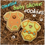 Onesie Baby Shower Cookies | sugarkissed.net