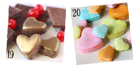 Valentine Candy with Hearts | sugarkissed.net