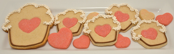 Colored Dough Heart Cookies | sugarkissed.net