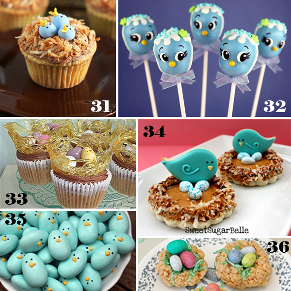 Easter Bird and Nest Sweets - sugarkissed.net
