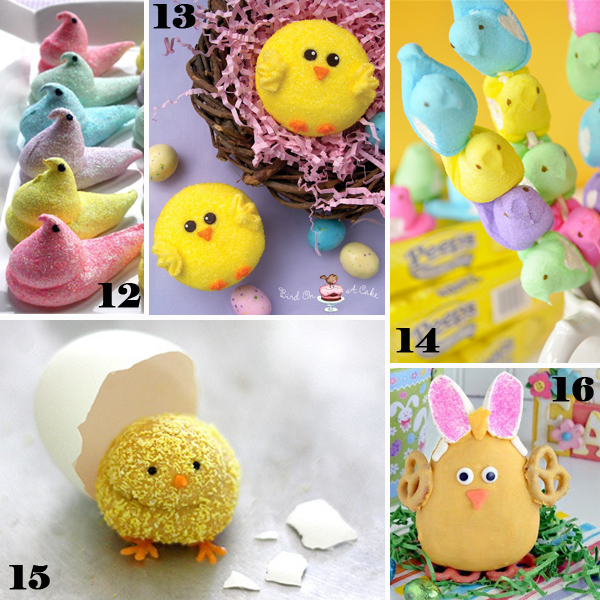 Easter Chick Sweets - sugarkissed.net