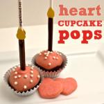 Heart Cupcake Pops