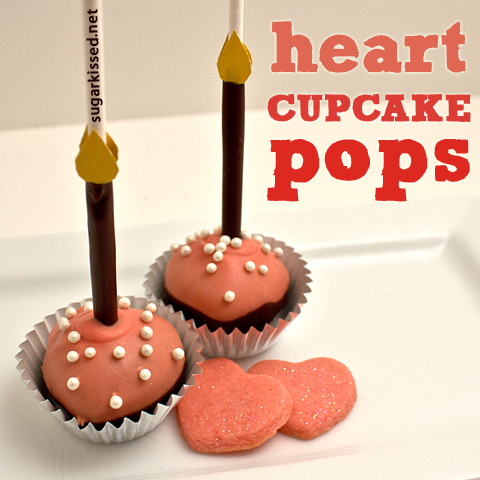 Heart Cupcake Pops | sugarkissed.net