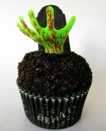 Zombie Hand Cupcake Topper