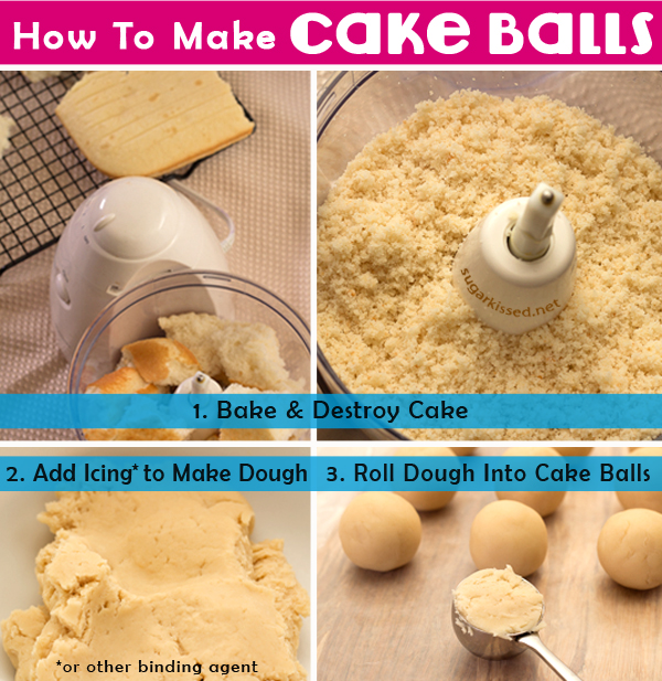 How To Make Cake Balls - sugarkissed.net