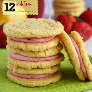 12 Strawberry Lemonade Cookies