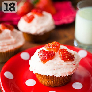 18 Strawberry Banana Cupcakes