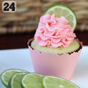 24 Strawberry Lime Cupcakes
