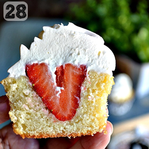 28 Strawberry Shortcake Cupcakes