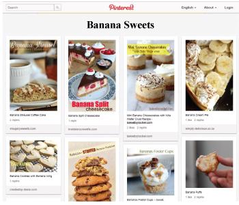 Banana Sweets Pinterest
