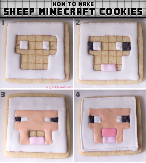 How to Make Sheep Minecraft Cookies