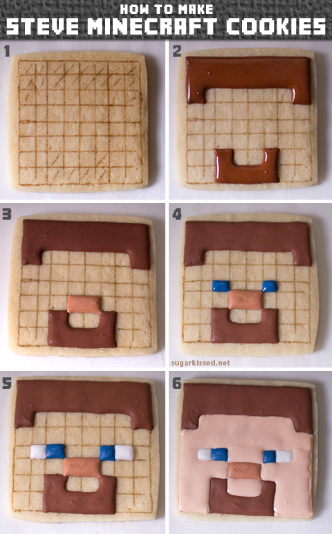 How to Make Steve Minecraft Cookies