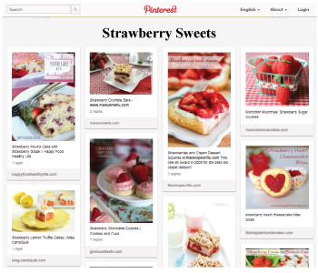 Strawberry Sweets Pinterest