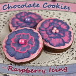 Chocolate Cookies with Raspberry Royal Icing