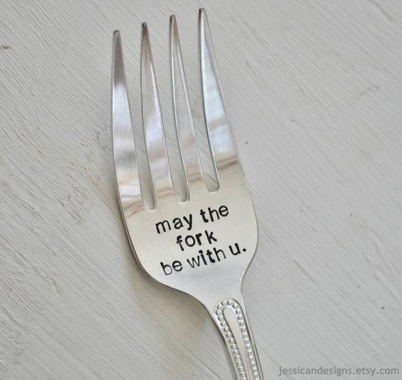 Star Wars Hand-Stamped Serving Fork