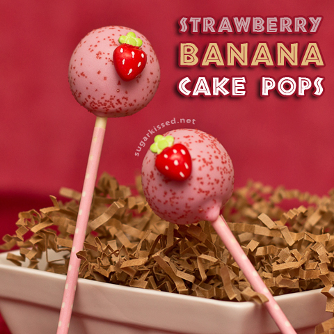 Strawberry Banana Cake Pops