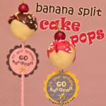Banana Split Cake Pops