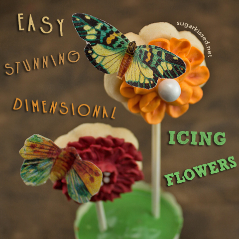 Easy, Stunning, Dimensional Icing Flowers